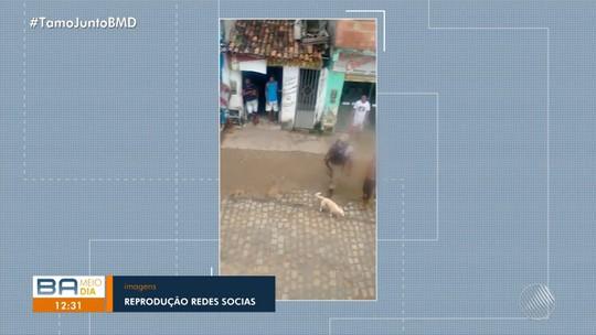 Homens são agredidos por PM durante abordagem na Bahia; vídeo mostra ação