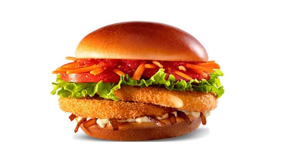 Lanche vegetariano Duplo Veggie, do McDonald's (Foto: Divulgação)