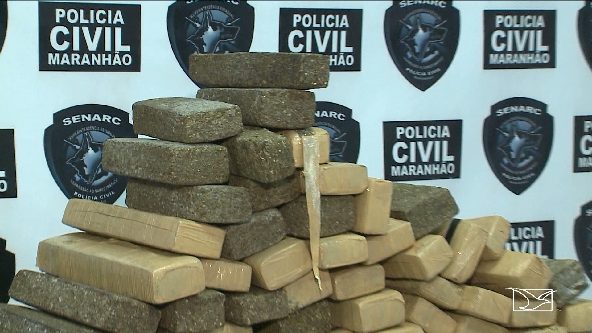 Dupla é presa com 180 quilos de maconha no Maranhão