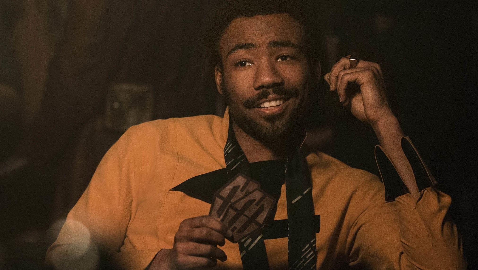 O ator Donald Glover como o personagem Lando Calrissian em Han Solo: Uma História Star Wars (Foto: Divulgação)