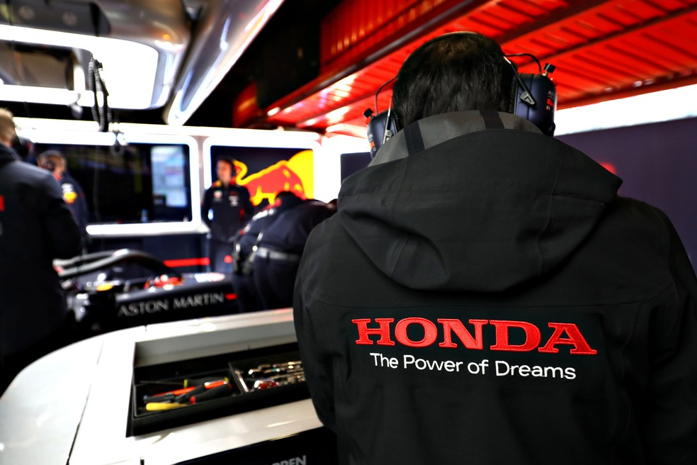 Honda inicia parceria com a RBR em 2019 — Foto: Mark Thompson/Getty Images