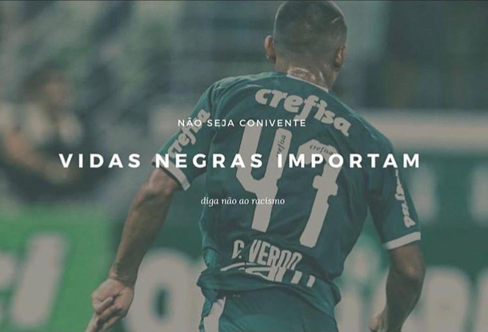 Palmeiras E Jogadores Se Manifestam Contra O Racismo Vidas Negras Importam Palmeiras Ge