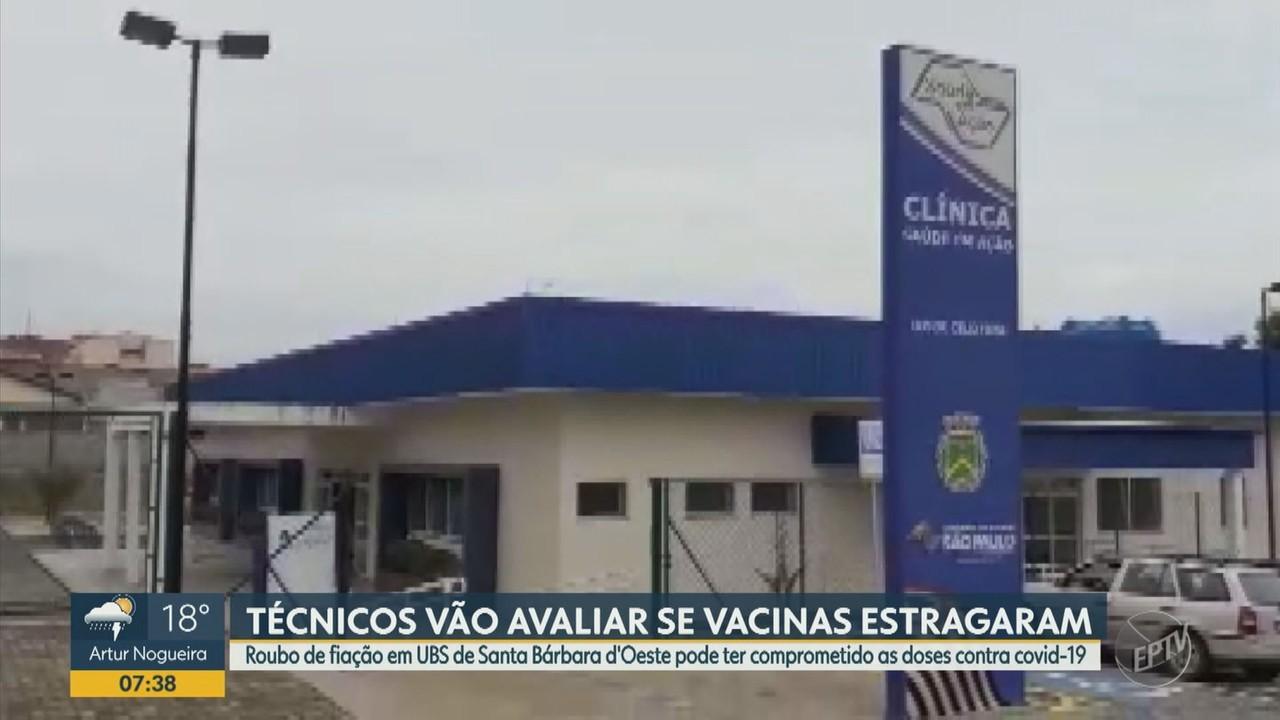 Roubo de fiação em UBS de Santa Bárbara d'Oeste pode ter causado perda de doses da vacina
