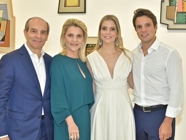 Waldir, Flavia, Laura e Guilherme Simões De Assis (Foto: Juan Guerra/ Divulgação )