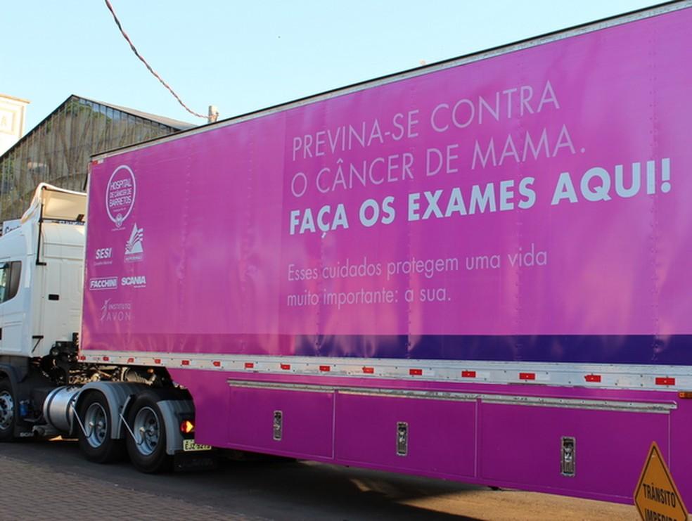 Estrutura conta com carreta que fará exames em bairros de Piracicaba (Foto: Divulgação/Associação Ilumina)