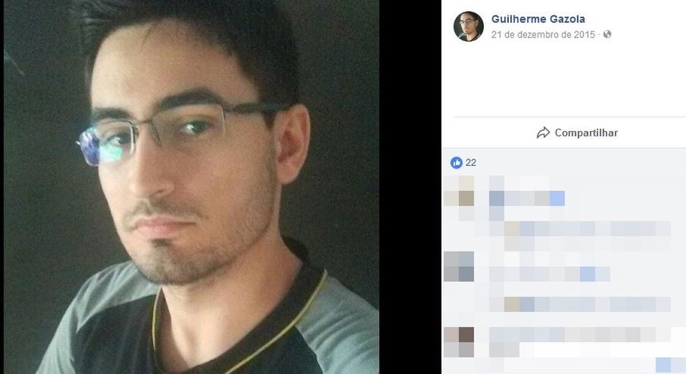 Guilherme Gazola foi encontrado morto em Rio Preto (SP) (Foto: Reprodução/TV TEM)