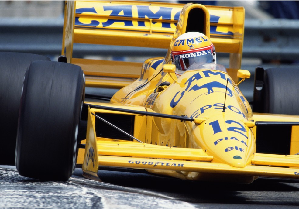 Nakajima no GP de Mônaco de 1989 com a Lotus-Judd — Foto: Getty Images