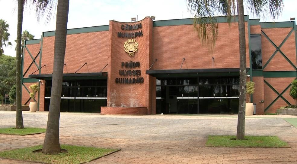 A Câmara dos Vereadores de Paulínia (Foto: Reprodução / EPTV)