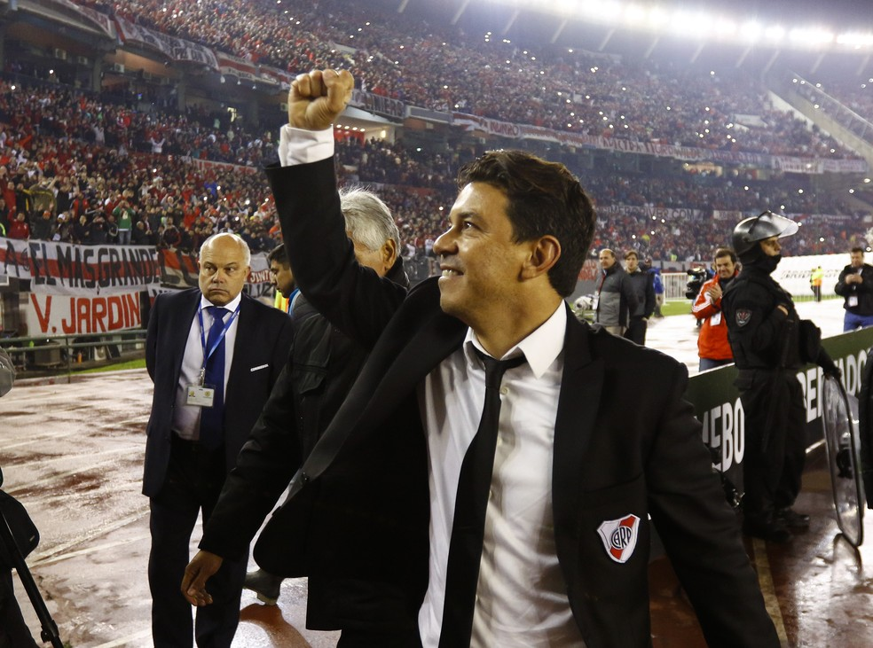 Marcelo Gallardo é um dos mais vitoriosos do River (Foto: Gabriel Rossi/Getty Images)