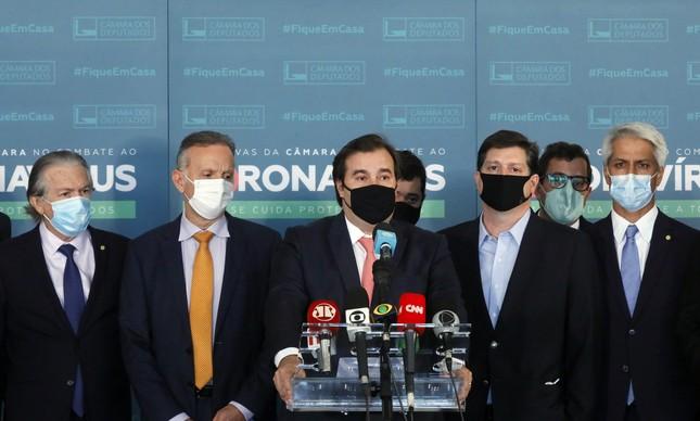 Rodrigo Maia apresenta bloco para eleição da Câmara em 2021
