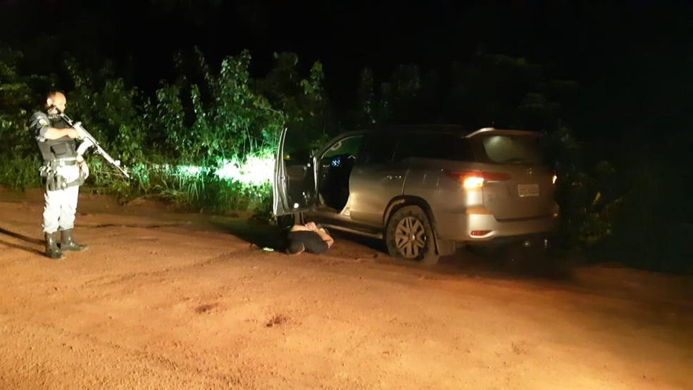 Padre Flávio Melchior Tártari, de 58 anos, foi sequestrado e ficou refém por seis horas em Mato Grosso; carro foi recuperado — Foto: Polícia Militar de Mato Grosso/Divulgação