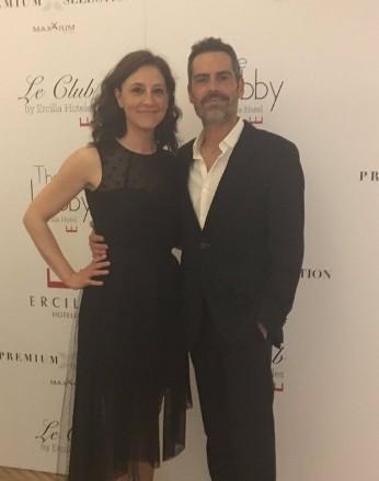 Filipe Duarte e a mulher, a atriz Nuria Mencía (Foto: Reprodução/Twitter)
