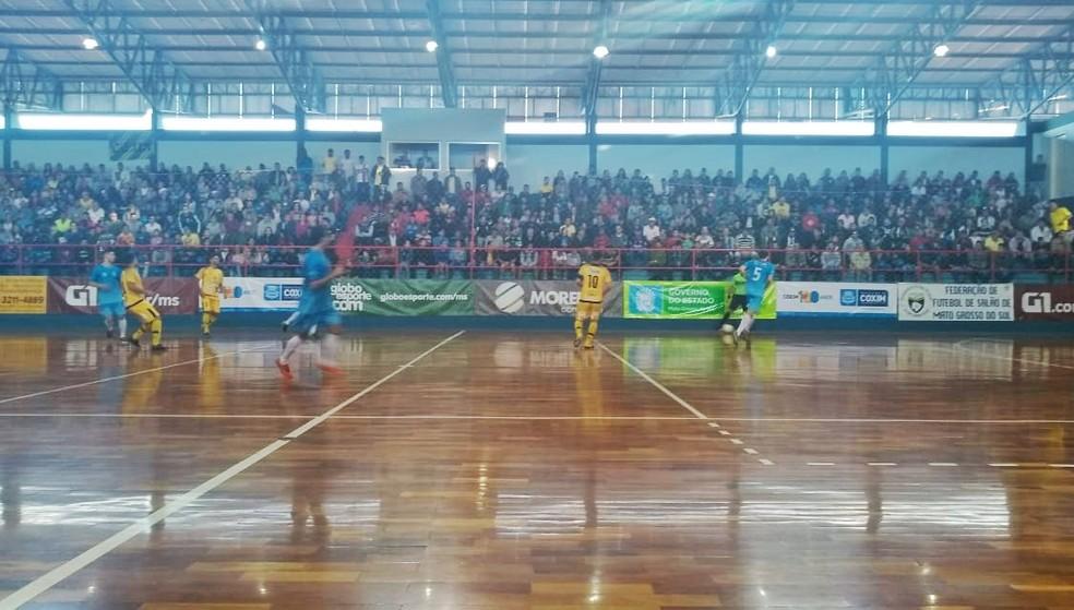 Coxim e Juventude de Dourados se enfrentaram neste sábado na final da Copa Morena  (Foto: Roberto Oshiro / TV Morena )
