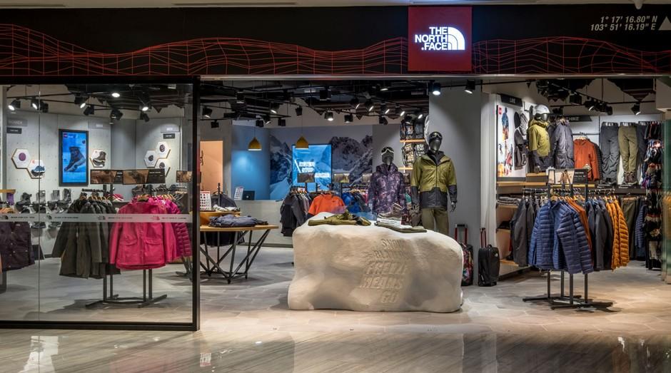 Loja da The North Face, uma das marcas que suspenderam a compra de couro (Foto: Divulgação)