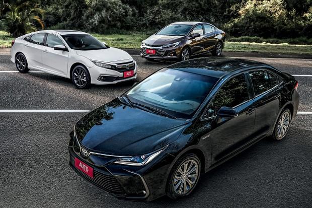 Nova geração do Corolla encara os rivais Civic e Cruze (Foto: Rafael Munhoz/Autoesporte)
