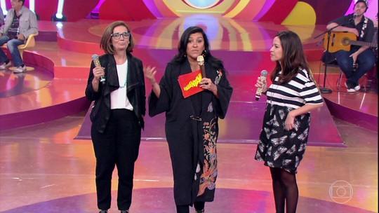 Regina Casé se emociona ao lembrar do pai no palco do 'Esquenta'