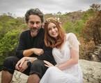 Marina Ruy Barbosa e Alexandre Nero nas gravações do casamento de Maria Isis e José Alfredo | Alex Carvalho/TV Globo
