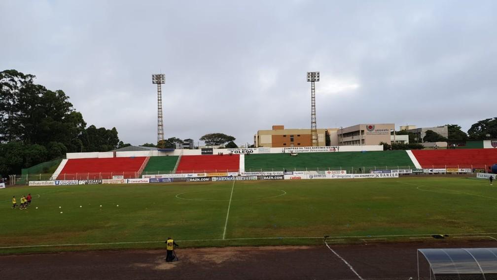 Estádio 14 de Dezembro recebe Toledo x Náutico, pela Copa do Brasil — Foto: Cícero Bittencourt/RPC