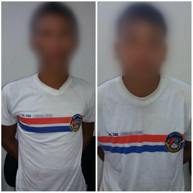 Menores com farda de colégio militar são detidos com moto roubada em Boa Vista