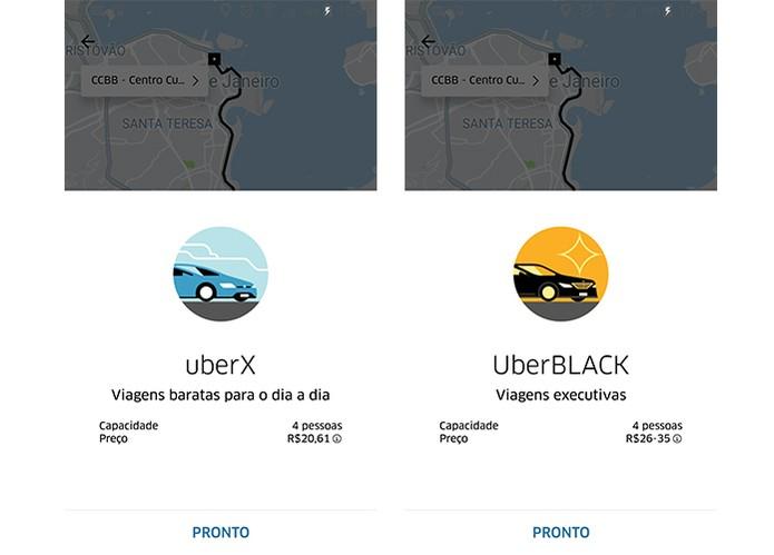 UberX tem preços de base e mínimo mais baratos do que UberBlack (Foto: Reprodução/Barbara Mannara)