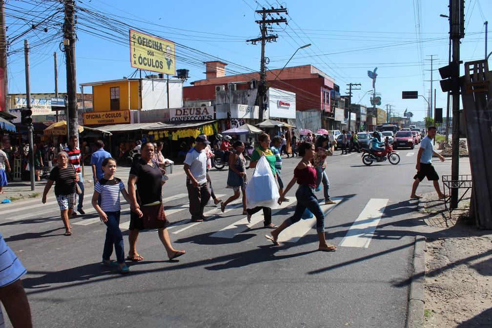 Avenida Grande Circular, na Zona Leste de Manaus, em dia sem jogo do Brasil (Foto: Patrick Marques/G1 AM)