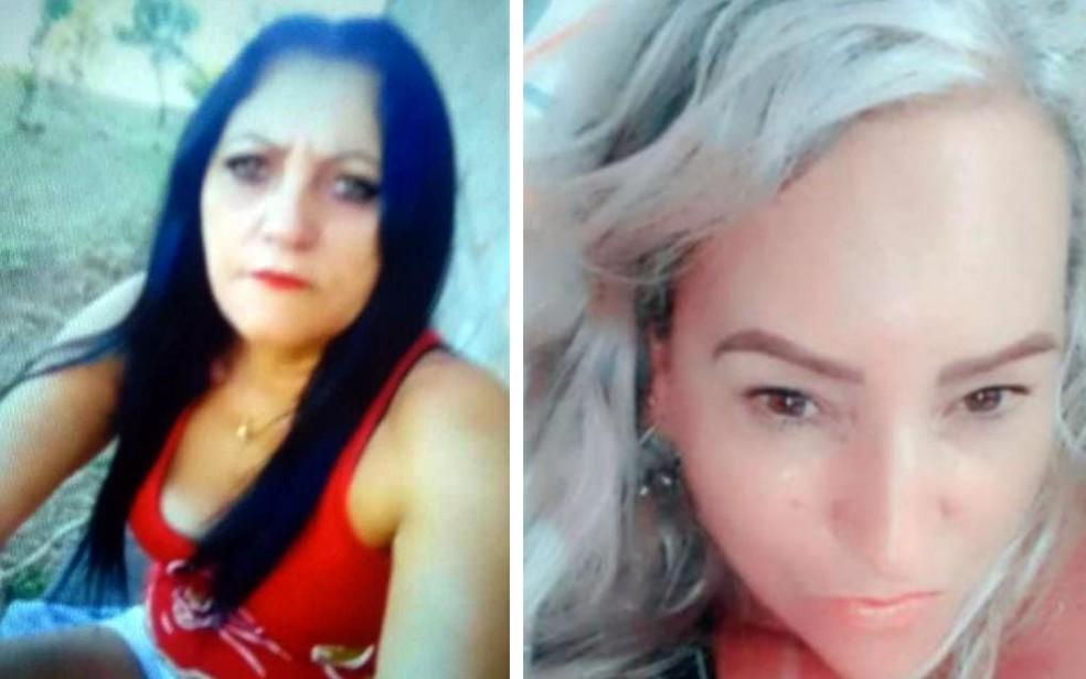 Cleide Cavalcante, de 52 anos, e Simone Garcia, de 53 anos, foram encontradas mortas em Caiapônia, Goiás — Foto: Reprodução/TV Anhanguera