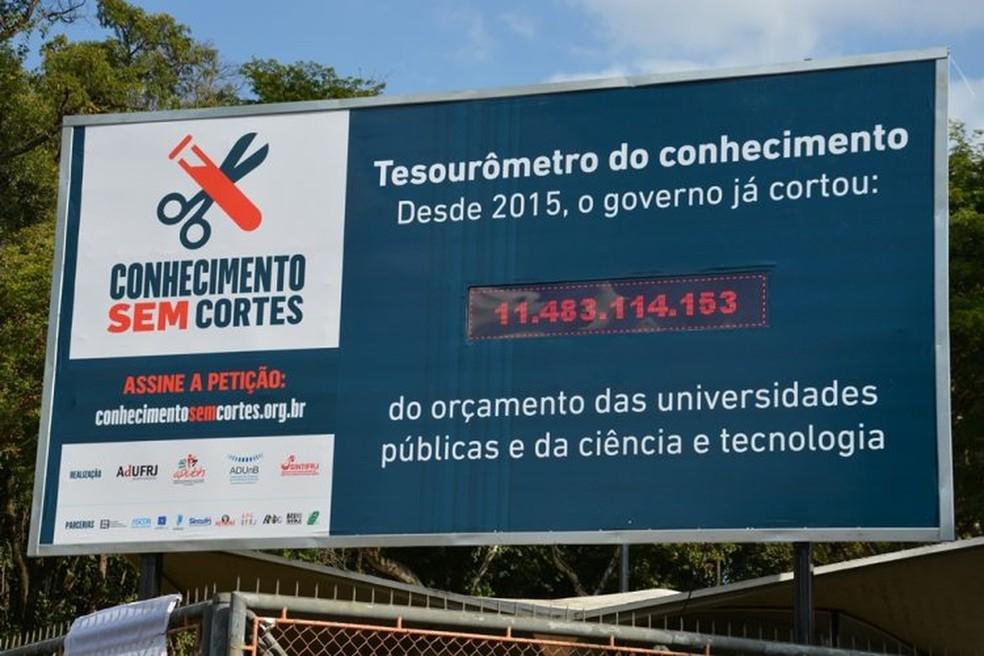 Tesourômetro instalado na Universidade Federal de Minas Gerais em julho deste ano (Foto: Divulgação)