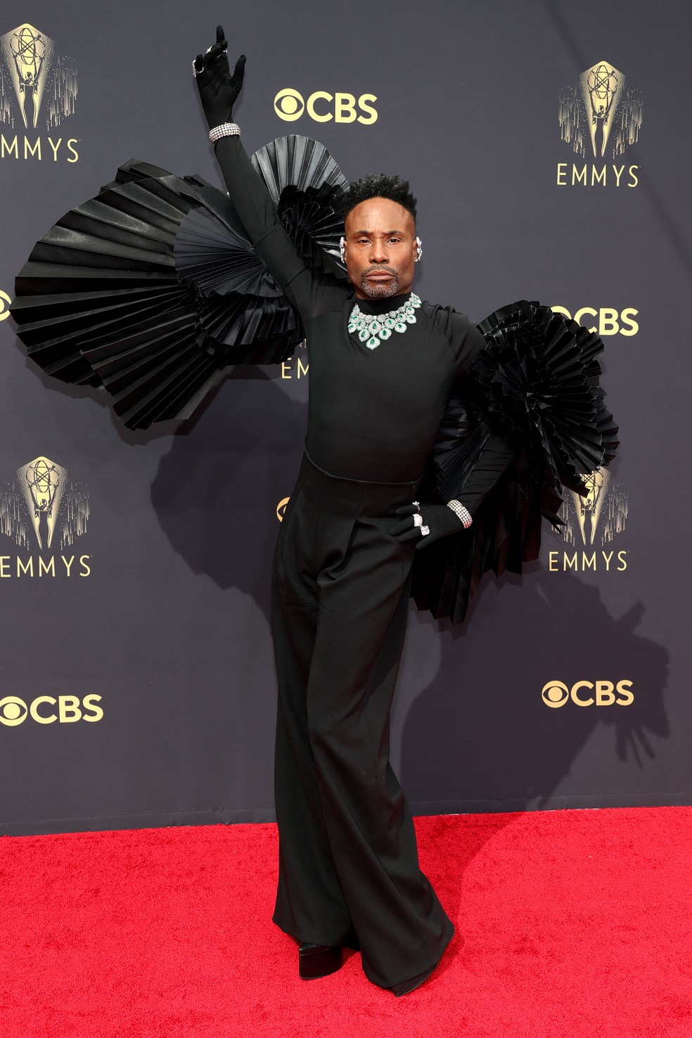 Billy Porter chega ao Emmy 2021 — Foto: Rich Fury/Getty Images North America/Getty Images via AFP
