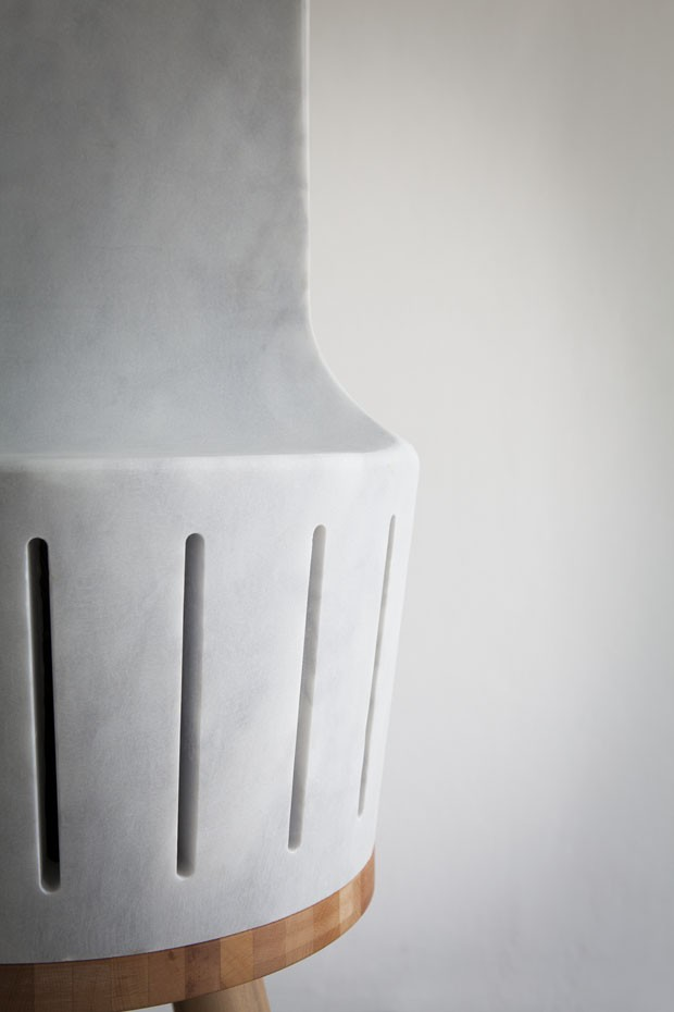 Detalhe do termoventilador <em>Heatty</em>, design Claudio Larcher