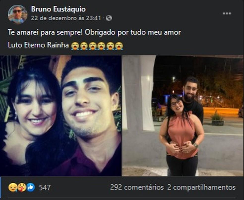 Jovem indiciado por homic?dio doloso pela morte de m?e fez postagem ap?s o crime em Guaruj?, SP ? Foto: Reprodu??o/Facebook