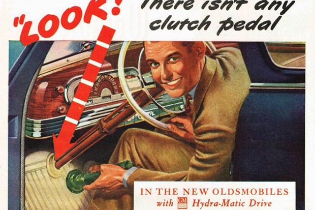 A ausência do pedal da embreagem era destacada nas propagandas (Foto: Divulgação)