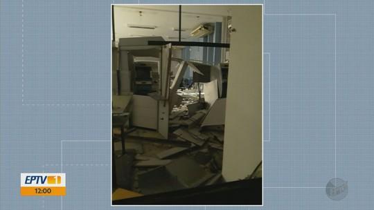 Dois bancos são alvos de quadrilha em explosões em Nova Resende