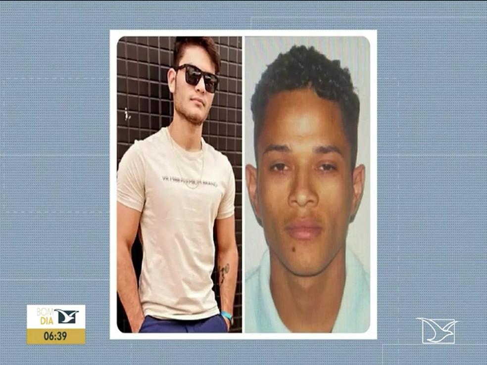 Lyncon Jackson Silva Monteiro e João Vitor dos Santos Feitosa são suspeitos de matar o advogado Jaime Pereira em Balsas — Foto: Reprodução/TV Mirante