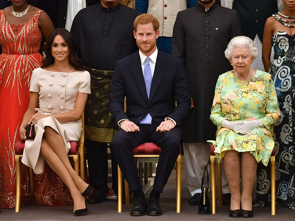 Meghan, Harry e rainha Elizabeth (Foto: Getty Images)