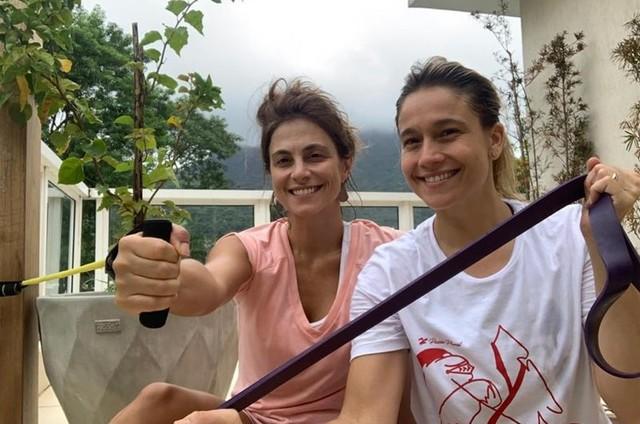 Fernanda Gentil e Priscila Montadon (Foto: Arquivo pessoal)