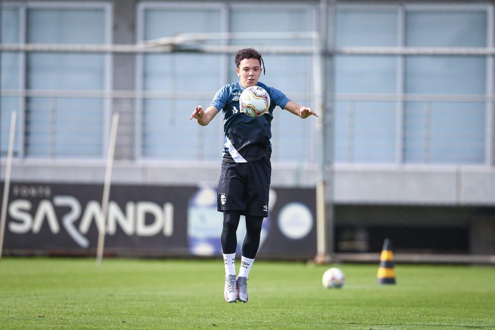 Pepê, do Grêmio, está na mira do Wolfsburg — Foto: Lucas Uebel/Grêmio