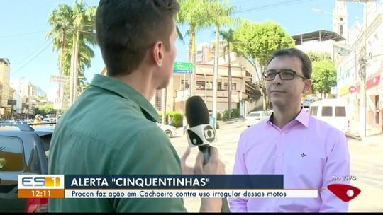 Procon faz ação em Cachoeiro contra uso irregular de motos 'cinquentinha', no Sul do ES