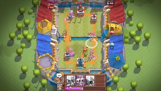 Foto: (Clash Royale segue o esquema de cartas e defesa de torres (Foto: Divulgação/Supercell))