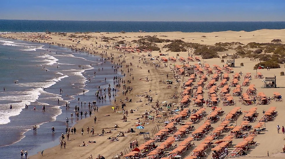 Praia nas Ilhas Canárias — Foto: Globo Repórter