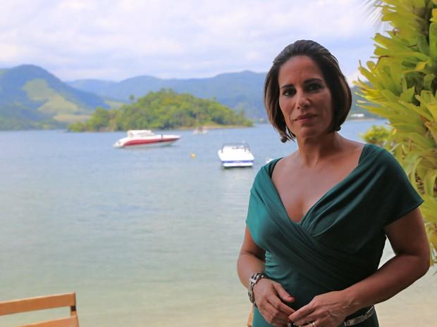 Deslumbrante, Gloria Pires também participou das gravações (Foto: Hellen Couto/Gshow)