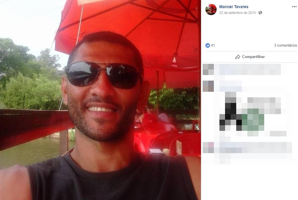Corpo de Marciel Tavares foi achado em lago de Boituva (SP) — Foto: Reprodução/Facebook/Marciel Tavares