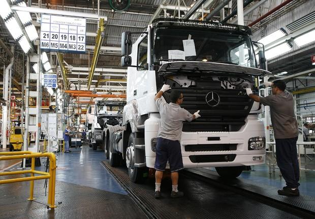 Fábrica da Mercedes-Benz na região do ABC, em São Paulo (Foto: Divulgação)