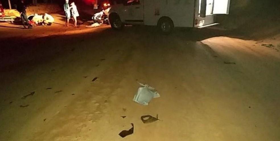 Adolescentes, de 16 e 17 anos, ficaram feridos após um acidente em Machadinho (RO) — Foto: Reprodução