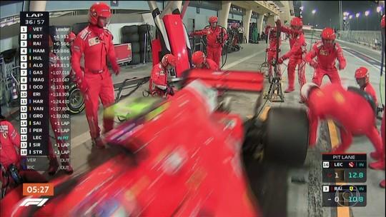 Acidente com mecânico da Ferrari quase estraga comemoração de vitória de Sebastian Vettel