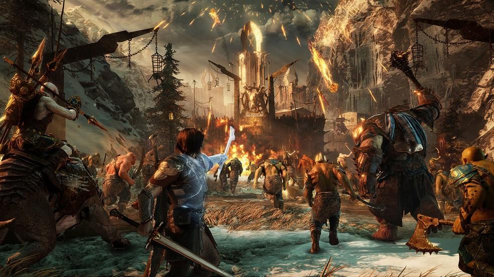 Middle-earth Shadow of War é a aguardada sequência do jogo ambientado no universo de O Hobbit e O Senhor dos Anéis — Foto: Divulgação/Warner
