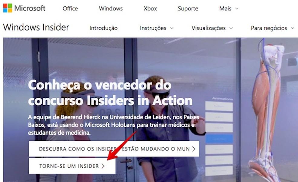 Inscreva-se no programa Windows Insider (Foto: Reprodução/Helito Bijora)