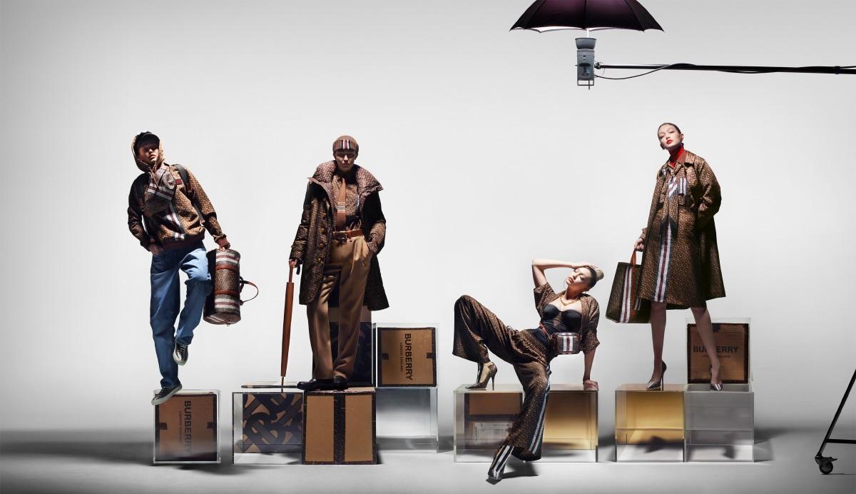 A modelo Gigi Hadid fez o papel de quatro personas que representam o atual consumidor Burberry (Foto: divulgação)