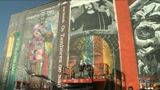 Mural pintado por Eduardo Kobra em São Luís serve de inspiração para estudantes