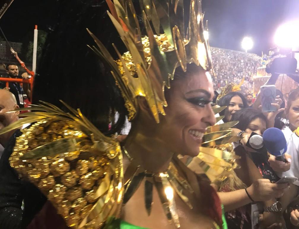 Juliana Paes disse estar muito emocionada (Foto: G1 Rio)