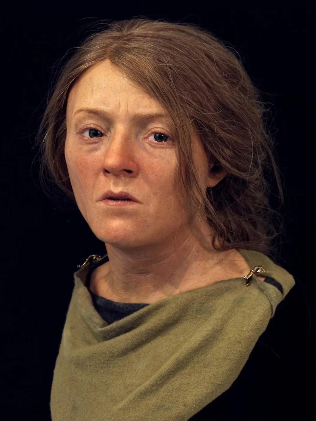 Face reconstruída da senhora Patcham  (Foto: Royal Pavilion & Museums; Brighton & Hove)